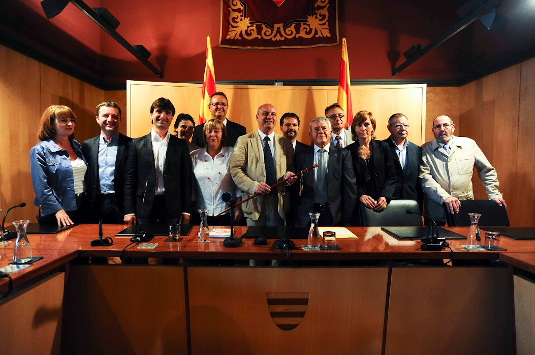 Tres alcaldes empordanesos. Foto: LL. Serrat.