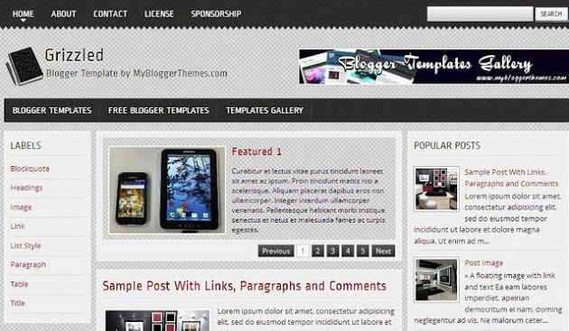 Grizzled Blogger Template