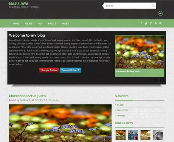 Maju Jaya free Blogger template download
