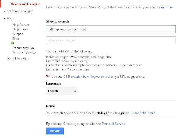 Cara membuat google custom search diblog