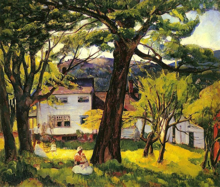 Leon Kroll - Summer Days, Camden, Maine, Bellows Family