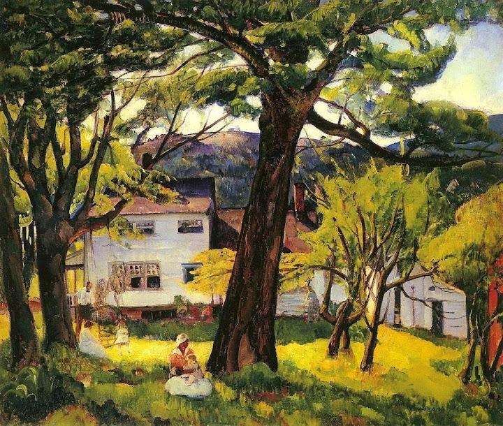 Leon Kroll - Summer Days, Camden, Maine, Bellows Family