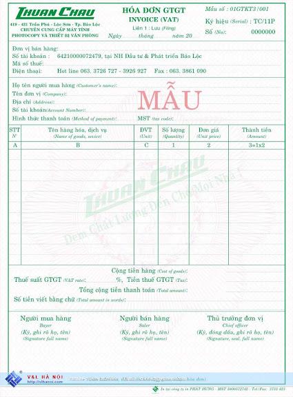 Mẫu hóa đơn 02