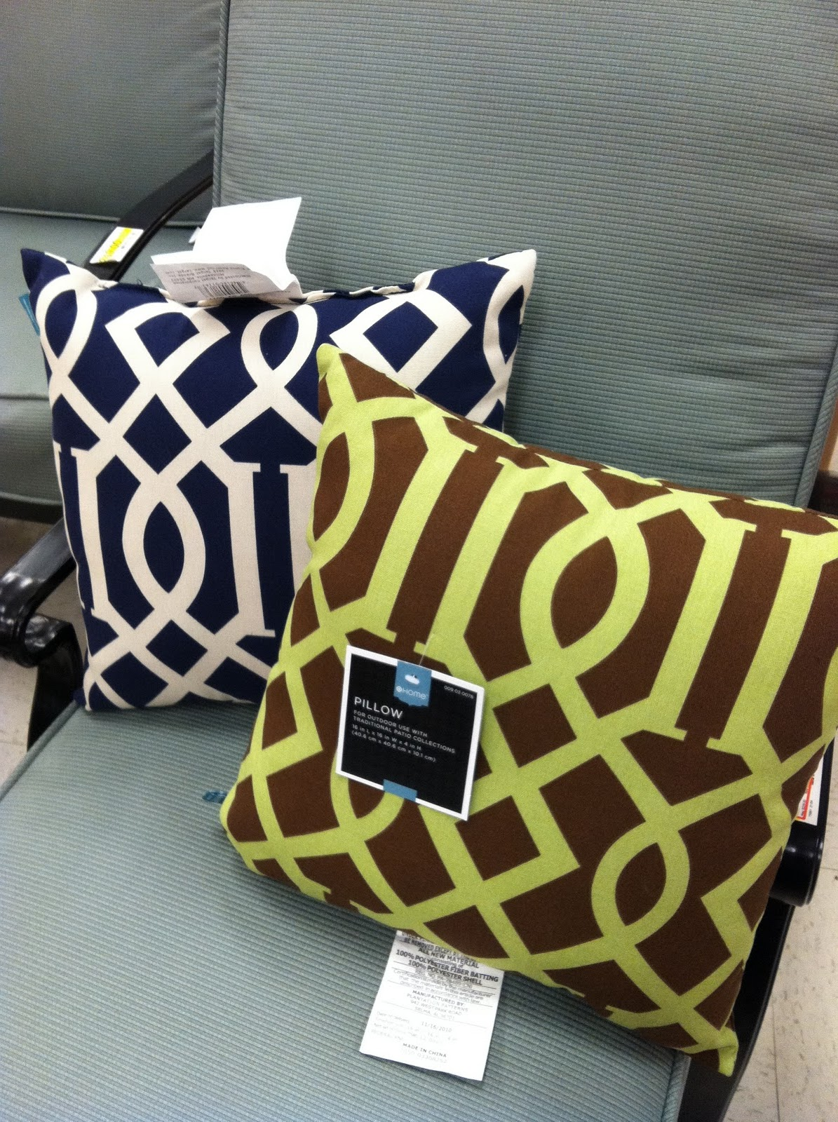 imperial trellis knock-off pillows @ target | Life On Virginia Street