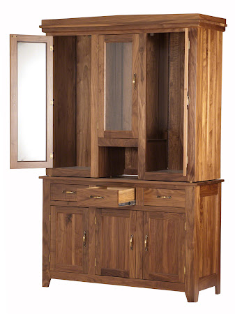 "84"" x 56"" x 20"" Cottonwood China Cabinet in Natural Walnut"