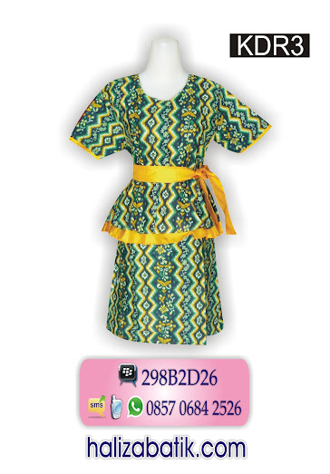 baju dress, mode batik modern, batik wanita modern