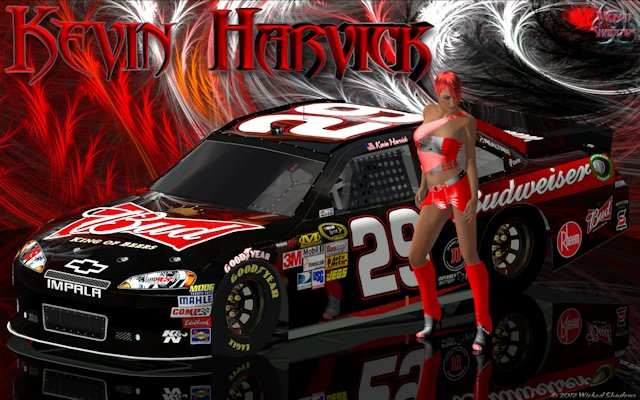 Kevin Harvick Lady In Red Wallpaper
