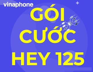 Gói Hey125 VinaPhone Tặng 1.550 phút gọi, 3G,4G Miễn phí, Xem phim không giới hạn