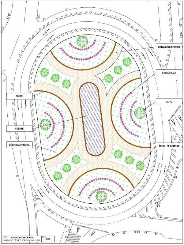 Diseños de rotonda - Primera opción