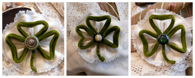 velvet tubing shamrock pin tutorial