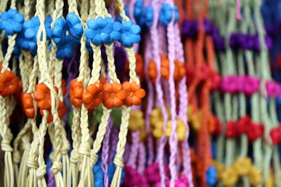 Necklaces at Chatuchak Market in Bangkok Thailand