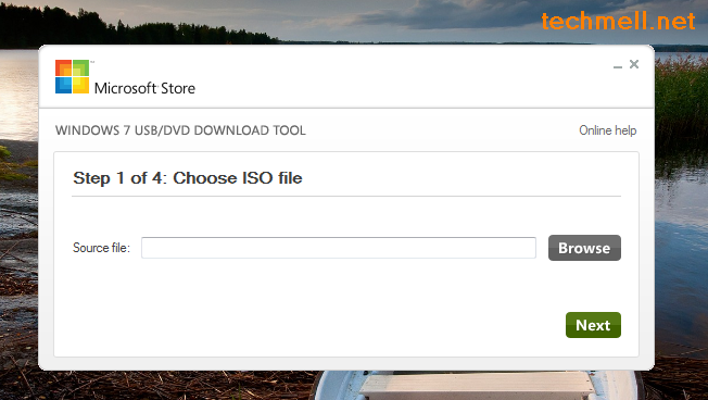 Select ISO File for Bootable Flash Drive for Windows 8.1