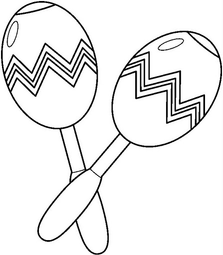 Free Coloring Pages Of Maracas Maracas Coloring Pages