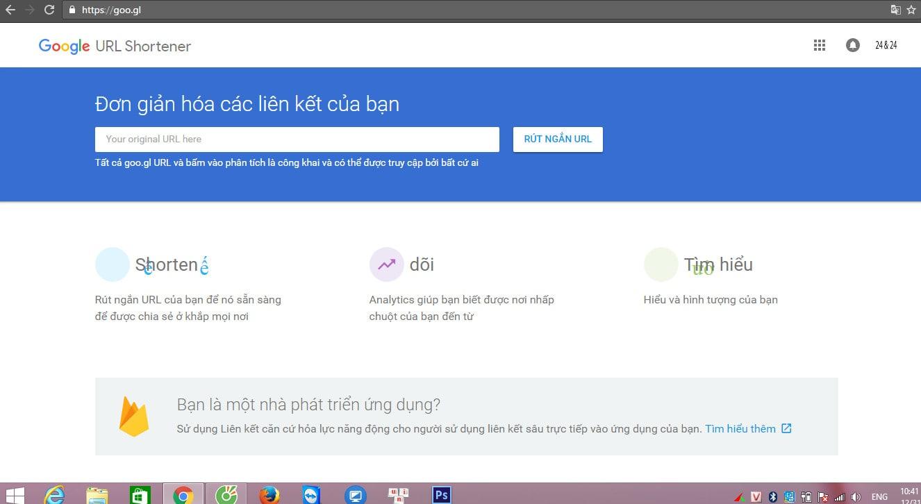 RÚT GỌN LINK - RÚT NGẮN LẠI ĐƯỜNG LINK URL TRANG WEB