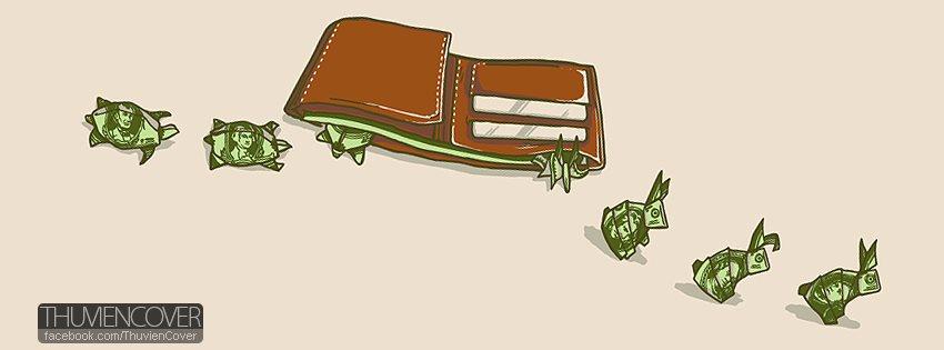 ảnh bìa facebook cá tính về tiền bạc