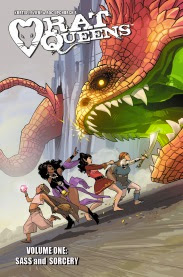 Cover art for Rat Queens Volume One