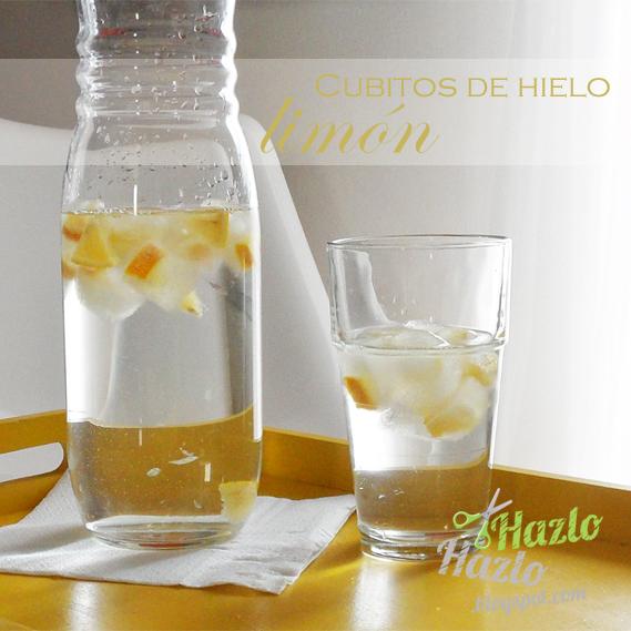 Cubitos de hielo limón.