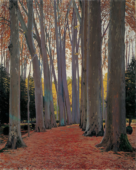 Santiago Rusiñol - Avenue of Plane Trees
