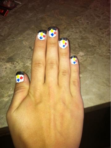 Majesstic Nails Steelers