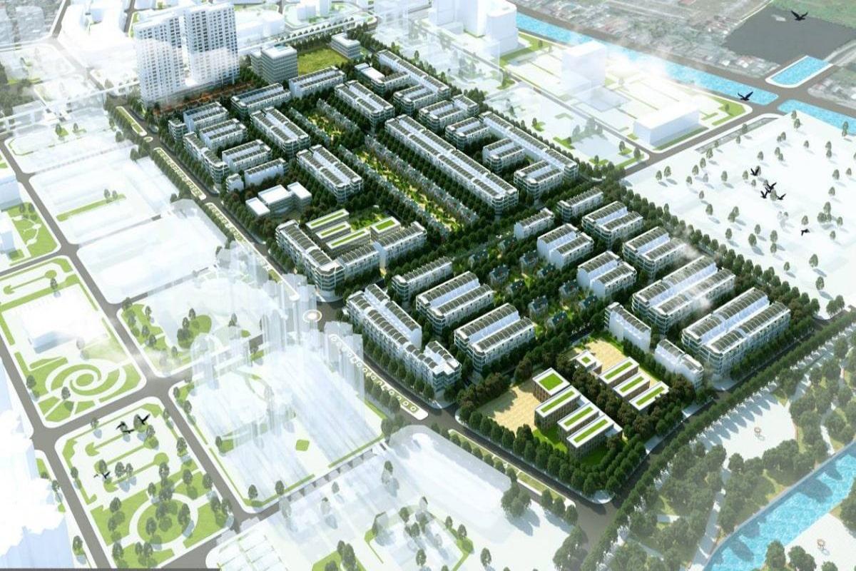 Cảnh quan hài hòa mà dự án Louis City Hoàng Mai mang lại