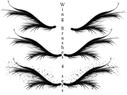 angels wings photoshop brushes