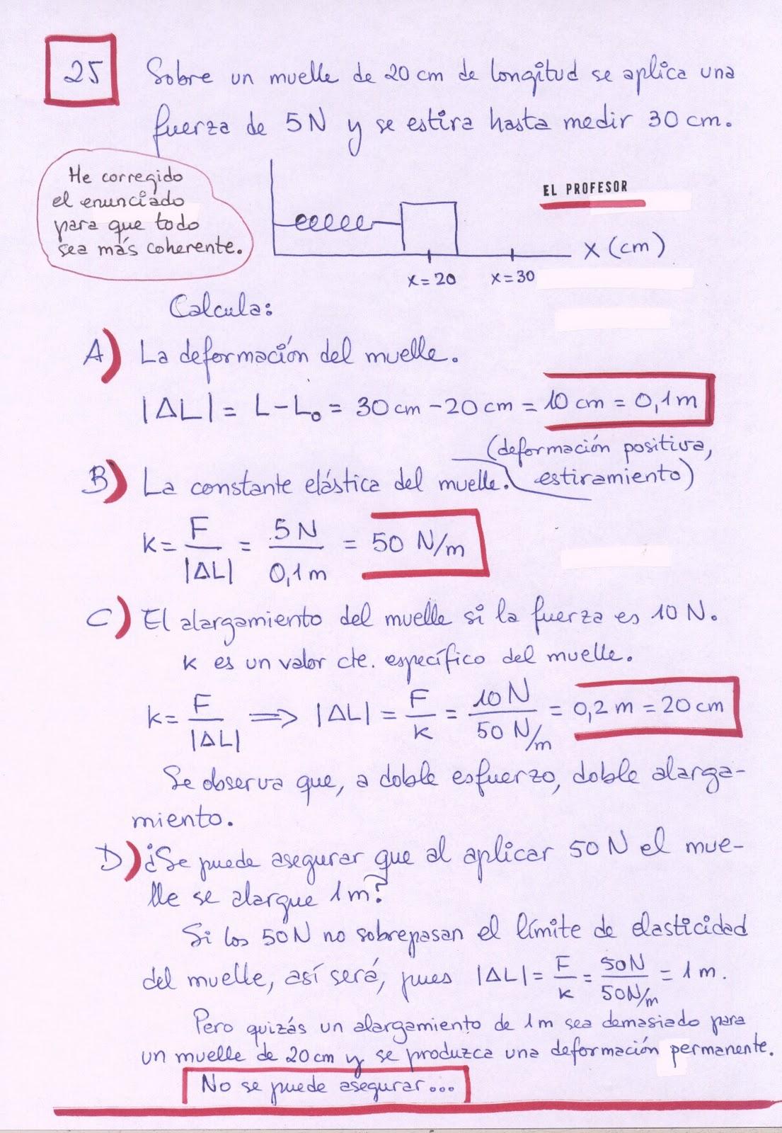 MateCien - Física 4º ESO: FUERZAS - Problemas resueltos
