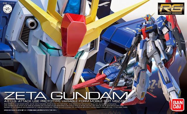 Sản phẩm Zeta Gundam RG 1/144 sản xuất tại Nhật bản