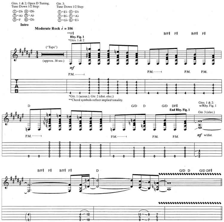 Alice in Chains Over Now guitar tabs