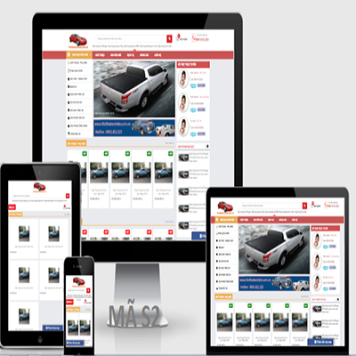 Thiết kế website bán phụ tùng xe oto