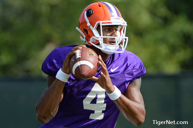 Fall Camp - Freshmen in Full Pads Photos - 2014, Deshaun Watson, Football, Practice