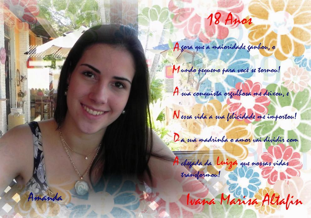 FOTOS E PENSAMENTOS: Aniversário 18 Anos - Amanda Altafin
