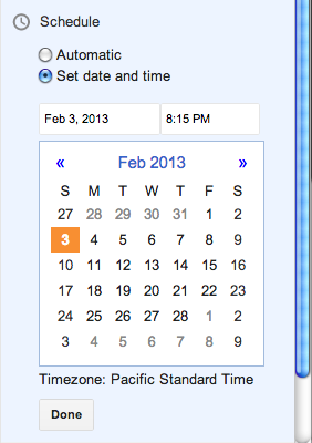 Blogger expanded datepicker
