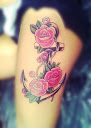 anchor and rose tattoo Ideas 8