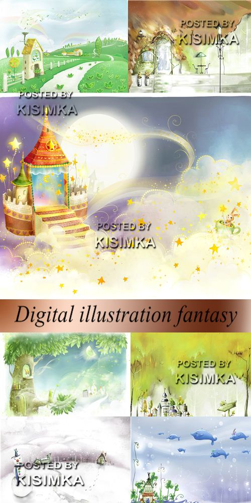 Stock Photo: Digital illustration fantasy