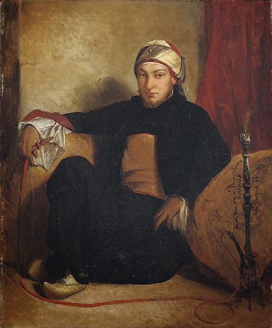 Jean-François Portaels - Smoking a Hookah