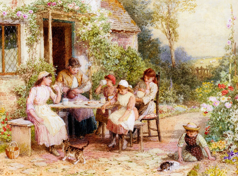 Myles Birket Foster - Tea Time