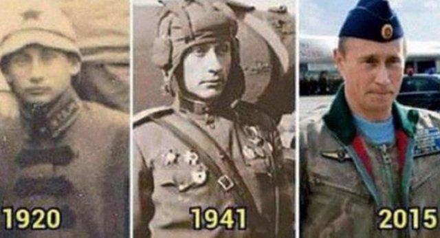 Tổng thống Putin là 'sinh vật bất tử', du hành xuyên thời gian?