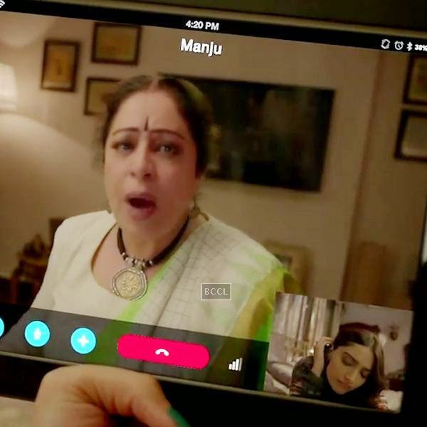 Sonam Kapoor and Kirron Kher in a still from Bollywood film Khoobsurat.