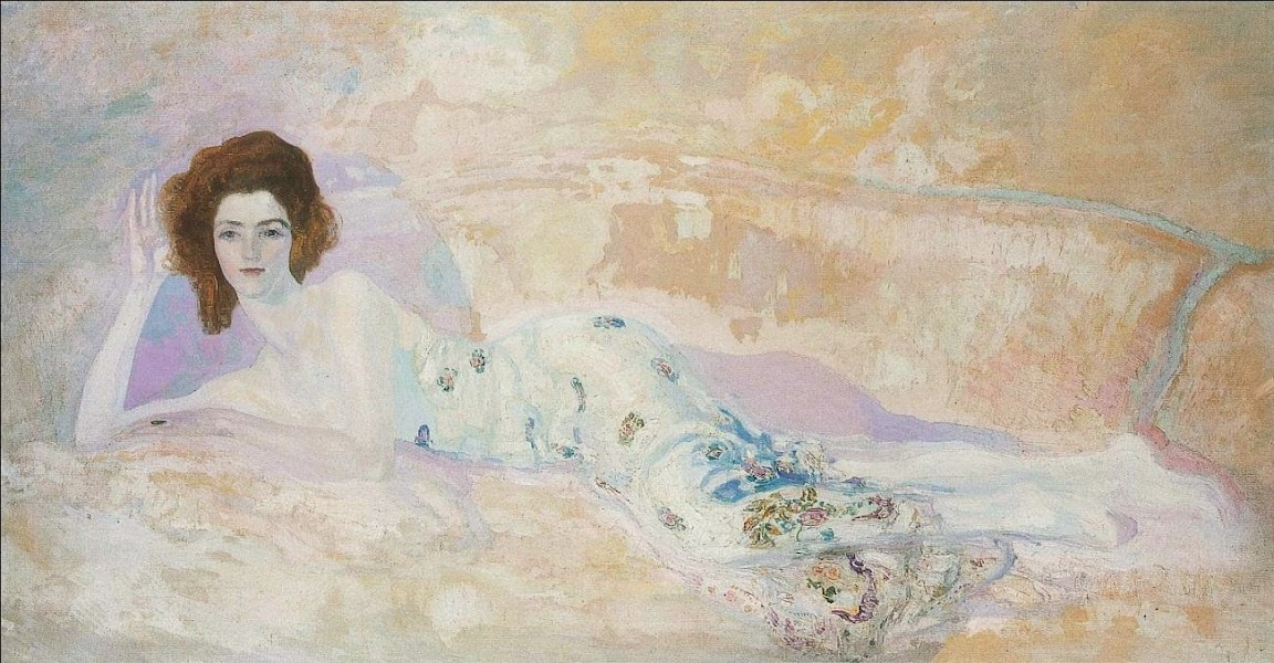 Hermen Anglada-Camarasa - Reclining figure on a sofa