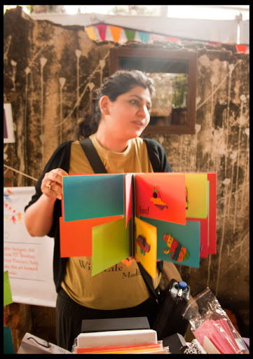 Adit Babel with her Handmade Book