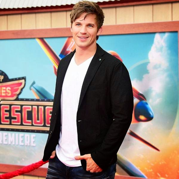 Matt Lanter poses on arrival for the world premiere of the film 'Planes Fire & Rescue' in Hollywood, California, on July 15, 2014.