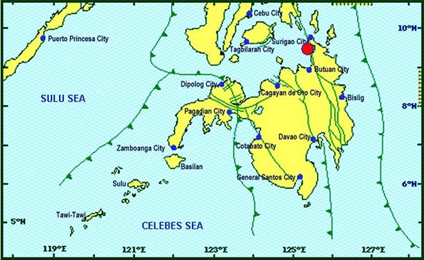 Surigao del Norte quake
