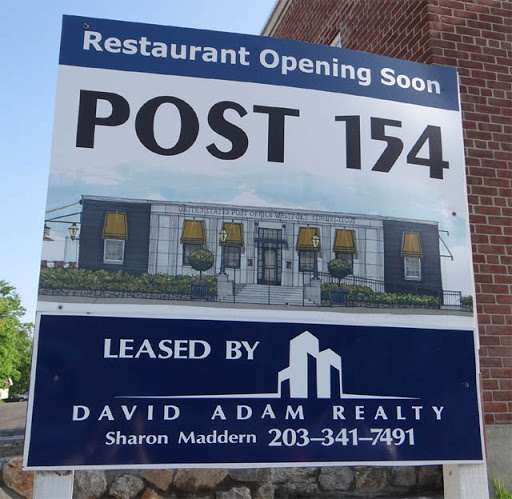 Westport, CT: Post 154 Restaurant sign