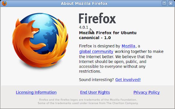 Ubuntu Mozilla Firefox 4.0