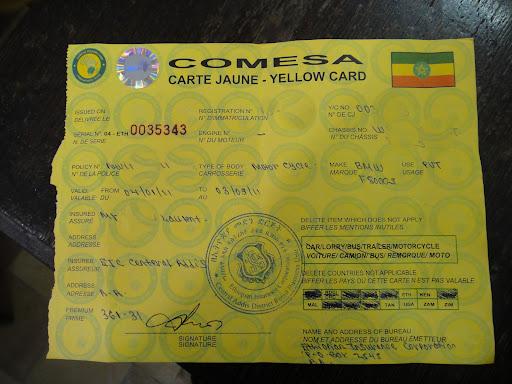 Comesa Yellow Card Insurance