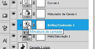 Duplo-clique na miniatura para editar os ajustes da camada