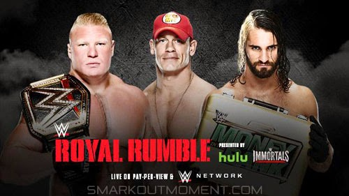 John Cena vs Brock Lesnar Royal Rumble 2015 winner results