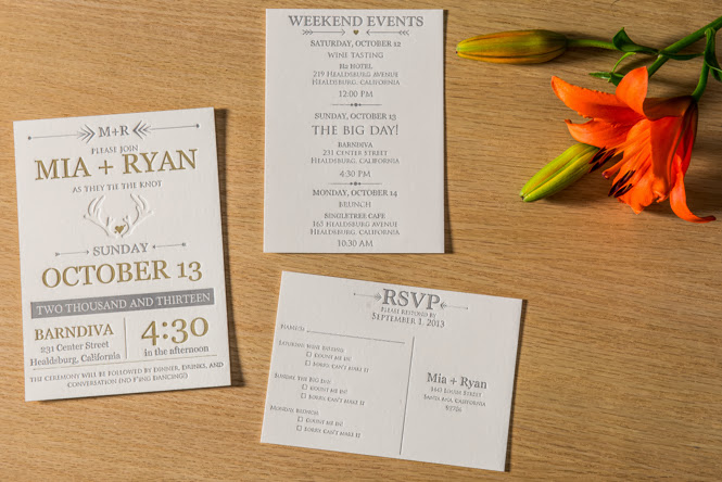Mia + Ryan's Invitations