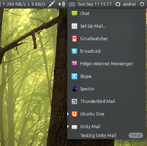 Unity Mail Ubuntu Messaging Menu