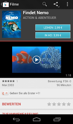 Google Play Store Videos ausleihen
